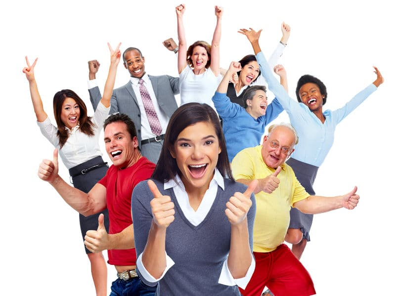 happy joyful people enrolled in an in-house dental membership program.